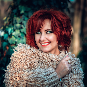 Smile by Alexandru Tache - People Portraits of Women ( love, sexy, life, red hair, nature, outdoor, forest, sunrise, nikon, smile, natural, portrait, outside )