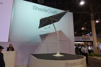 Photo: A lot of space to promote this sun-shade which moves with the sun.