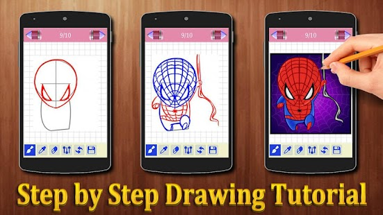 How to Draw Spiderman Characters - náhled
