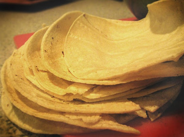 Preheat oven to 425 degees.  Stack tortillas on top of each other and...