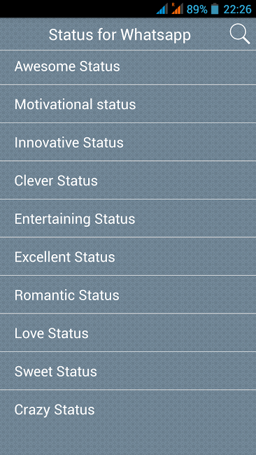 #4. Status for Whatsapp (Android)