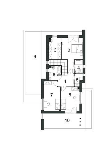 Przestronny D40 - Rzut piętra