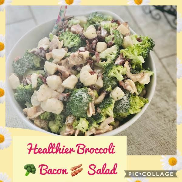 Healthier Broccoli Bacon Salad