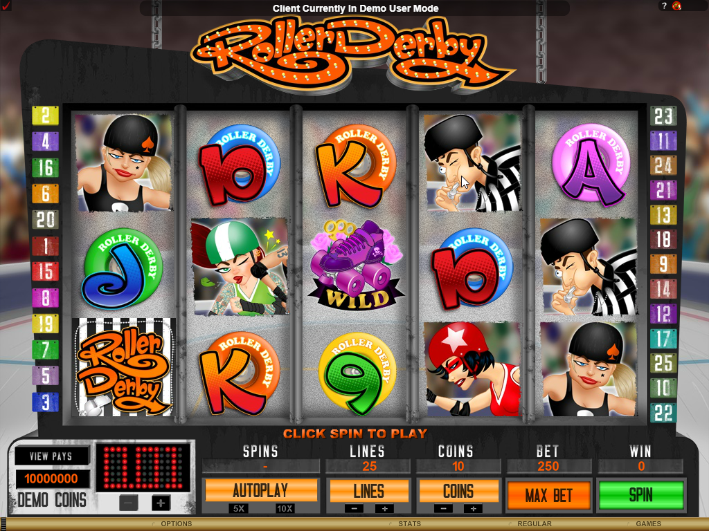 Roller Derby Slots Game Review