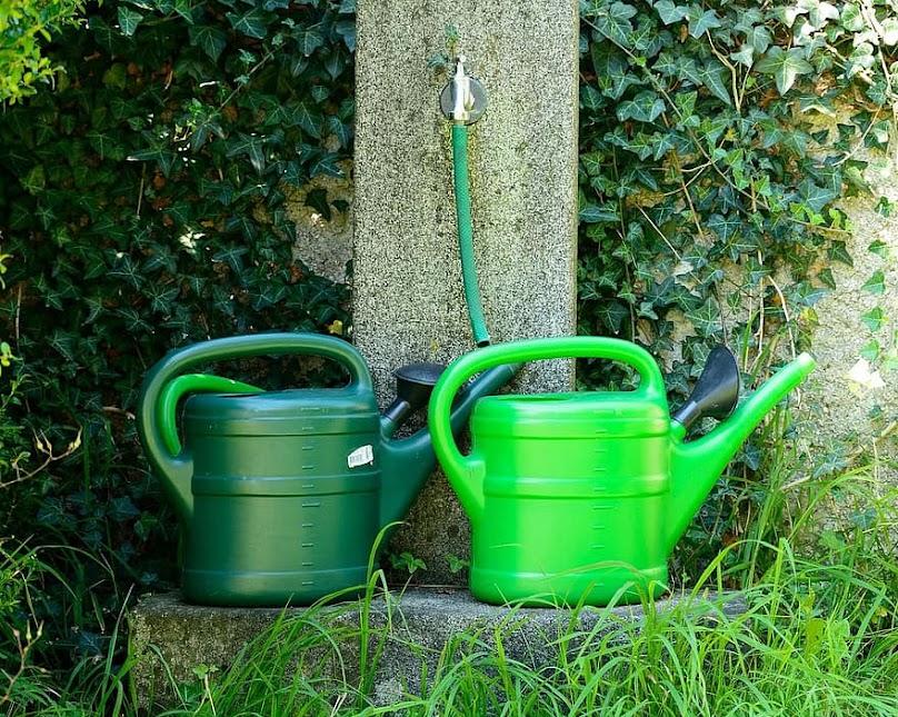 Nawodnienia ogrodu nie da się niestety wykonać kilkoma konewkami wody.