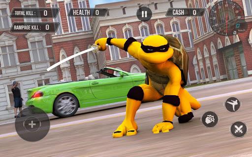 Flying Superhero Turtle Game in Ninja City for PC