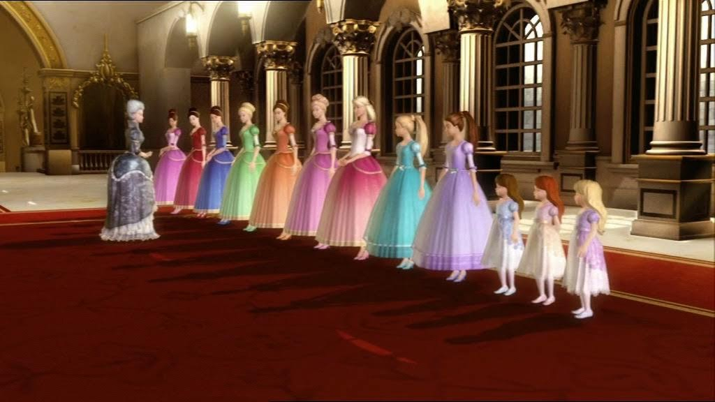 barbie 12 dancing princesses names with pictures