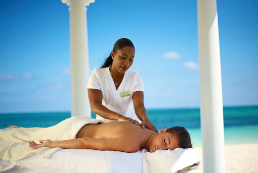Get a relaxing outdoor spa treatment while visiting Grand Bahama Island.