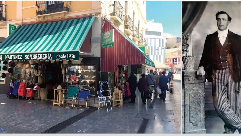 El bazar Martínez en la Circunvalación del Mercado. Antonio Martínez fundador del establecimiento