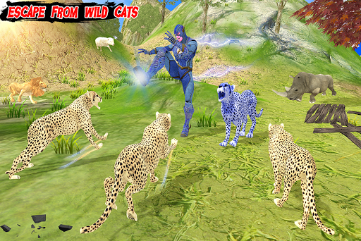 Multi Cheetah Speed hero Vs Wild Animals 1.1 screenshots 9