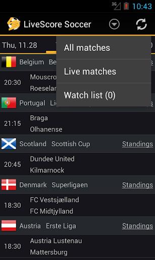 Livescore Soccer 1.3.8 screenshots 4