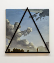 Photo: Cielo inanimado azul. 2014 Óleo sobre tela y molduras 95 x 95 cm
