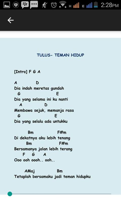 Chord Gitar Tulus