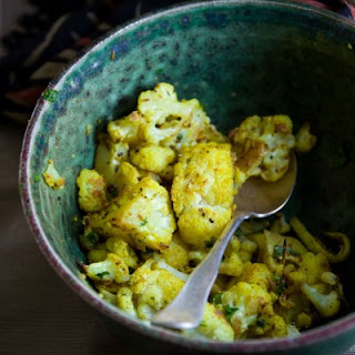 Curry Roasted Cauliflower.