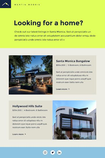Hollywood Hills Suite - Short Email template