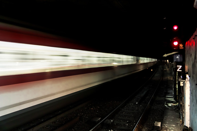 """Photo: #2012project52 [7/52 - Shadows] Rushing through the shadows of a capital   The subway is full of a mix between light and shadows, brightness and darkness. I wanted to use this figurative meaning for shadows rather than another """"shadow"""", obviously mastered by some :)."""