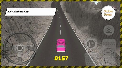 夏季粉紅爬坡賽車