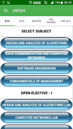 Download JNTUH Study Material & Syllabus Book (R18,R16,R13