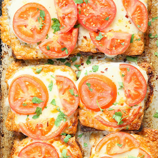 Super Easy Tomato Cheese Toasts