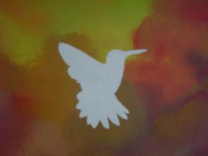 "Photo: Hummingbird: 12"" x 16"" (SOLD)"