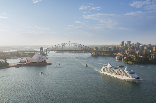 Cruise into Sydney Harbour on Regent Seven Seas Voyager.