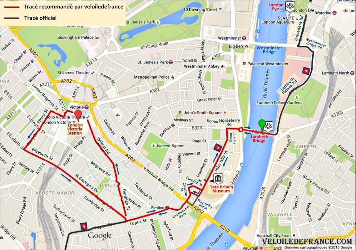 De London Victoria à la Tamise - Paris Londres à vélo par veloiledefrance.com