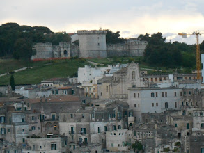 Photo: Matera, with its castle in back.
