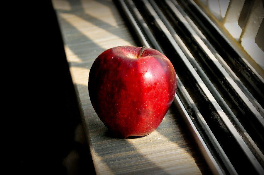 An apple by Shatoddruh Saha - Food & Drink Fruits & Vegetables ( #apple, #nikon, #foodporn, #sunlight, #likeforlikes )