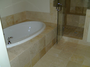 Photo: tiled tub surround 16x16's
