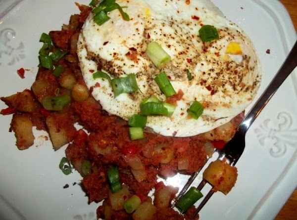 Place a portion of hash on a plate. Place your eggs on top. Time...