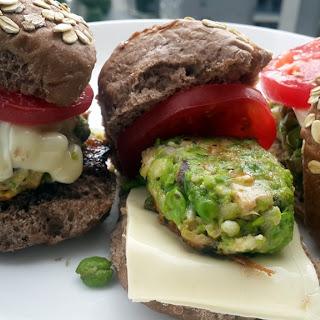 Green peas & Mushroom Vegetarian Sliders