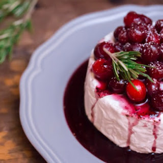 Red Wine Poached Cranberries & Baked Brie