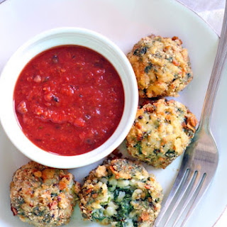 Oven-Baked Spinach and Barley Arancini (Italian Rice Balls).