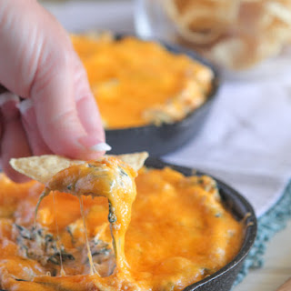 Mexican Taco Baked Spinach Dip.