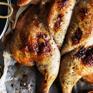 Butterflied Roast Chicken With Gluten-free Ricotta, Garlic And Spice Stuffing.