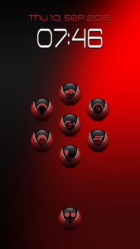 Coastal 2 Black Red -Icon Pack