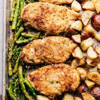 Sheet Pan Crispy Parmesan Garlic Chicken Recipe