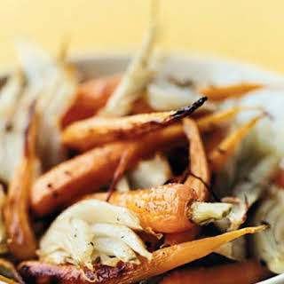 Roasted Fennel and Baby Carrots.