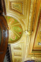 Photo: The ceiling in the map room.