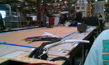 Photo: Floors in Place and Working on Wiring