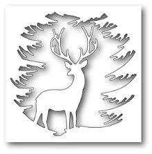 Memory Box Die - Evergreen Reindeer