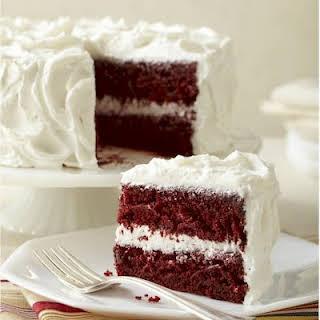 Gluten-Free Red Velvet Cake with Vegan Velvet Frosting.