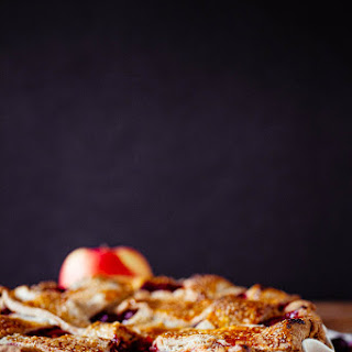 Cranberry-Apple Pie with a Rye Crust.