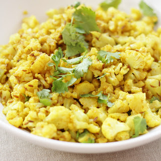 Indian Spiced Cauliflower Rice.