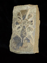 Photo: A test piece of York stone with a Viking style cross. Carving this is far more troublesome than Portland Stone and cutting any detail into the stone is very tricky by comparison.