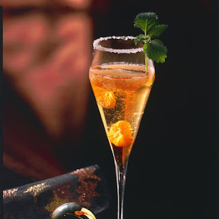 Mandarin and Grapefruit Champagne Cocktail
