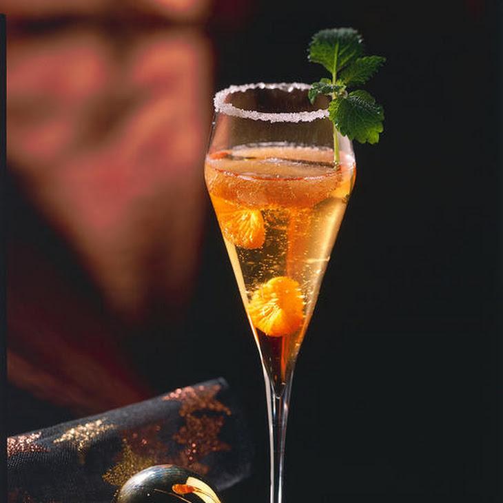 Mandarin and Grapefruit Champagne Cocktail Recipe