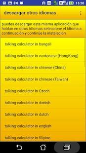 calculadora hablando - náhled