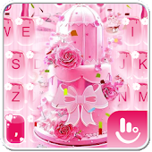 Pink Cake Keyboard Theme