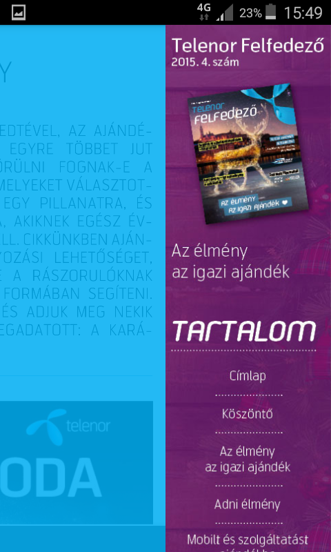 Telenor Felfedező Magazin- screenshot